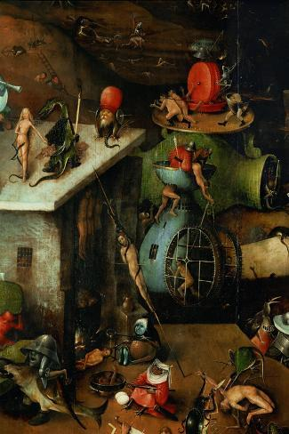 The Last Judgement, Detail from Central Panel-Hieronymus Bosch-Stretched Canvas Print