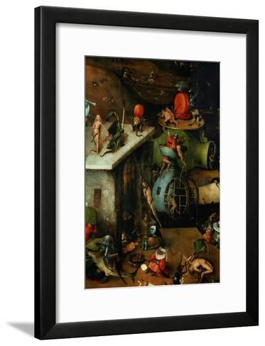 The Last Judgement, Detail from Central Panel-Hieronymus Bosch-Framed Art Print