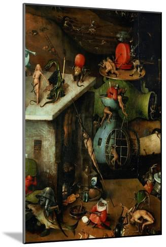 The Last Judgement, Detail from Central Panel-Hieronymus Bosch-Mounted Giclee Print