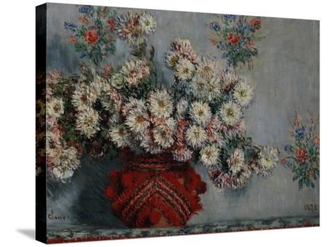 Chrysanthemums, 1878-Claude Monet-Stretched Canvas Print