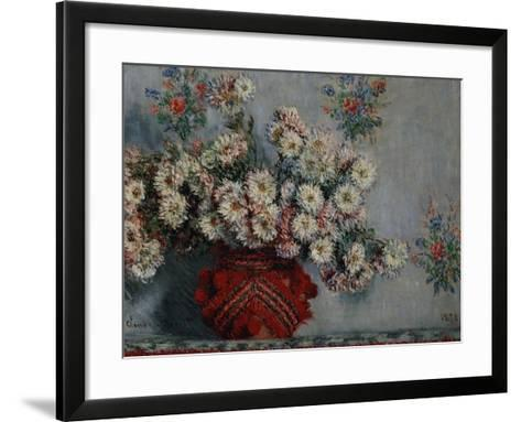 Chrysanthemums, 1878-Claude Monet-Framed Art Print