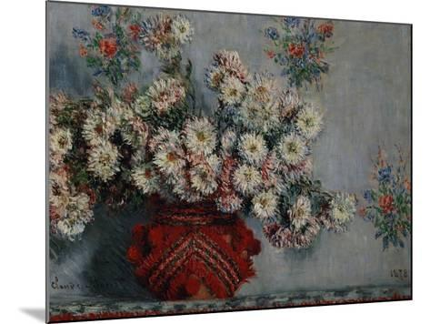 Chrysanthemums, 1878-Claude Monet-Mounted Giclee Print
