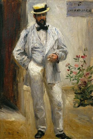Charles Le Coeur, Architect and Friend of the Painter, 1874-Pierre-Auguste Renoir-Stretched Canvas Print