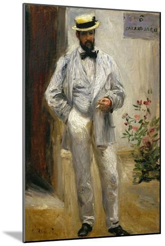 Charles Le Coeur, Architect and Friend of the Painter, 1874-Pierre-Auguste Renoir-Mounted Giclee Print