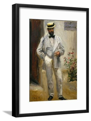 Charles Le Coeur, Architect and Friend of the Painter, 1874-Pierre-Auguste Renoir-Framed Art Print