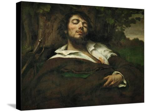 The Wounded Man, circa 1855-Gustave Courbet-Stretched Canvas Print