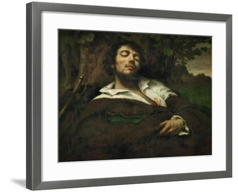 The Wounded Man, circa 1855-Gustave Courbet-Framed Art Print