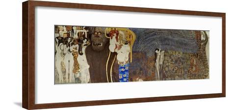 The Hostile Powers, the Titan Typhoeus, the Three Gorgons, Voluptiousness, Wantonness, Immoderation-Gustav Klimt-Framed Art Print