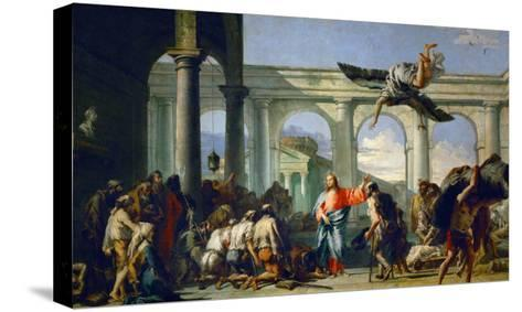 Jesus Heals the Paralytic in Bethesda-Giovanni Battista Tiepolo-Stretched Canvas Print
