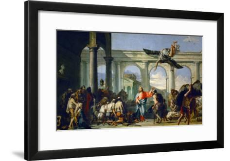 Jesus Heals the Paralytic in Bethesda-Giovanni Battista Tiepolo-Framed Art Print