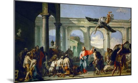 Jesus Heals the Paralytic in Bethesda-Giovanni Battista Tiepolo-Mounted Giclee Print
