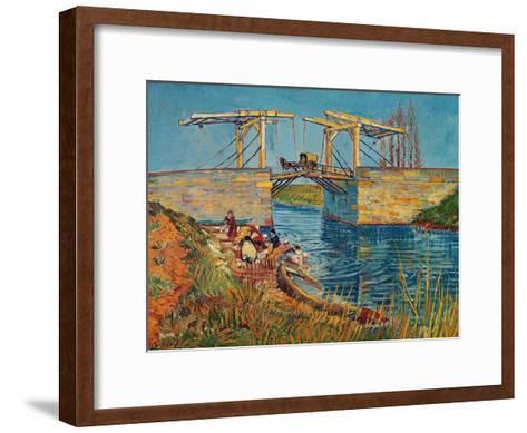 The Drawbridge at Arles with a Group of Washerwomen, c.1888-Vincent van Gogh-Framed Art Print