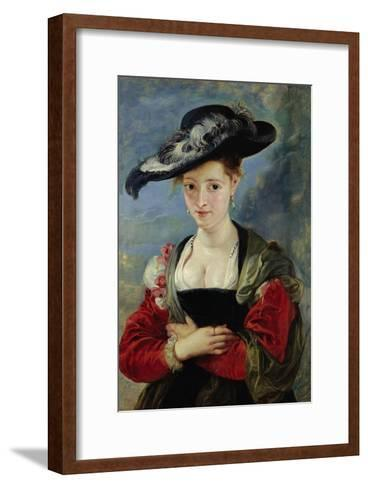 Portrait of Suzanne Fourment (Also Called The Straw Hat)-Peter Paul Rubens-Framed Art Print