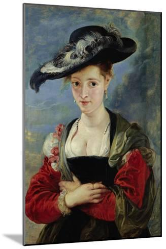 Portrait of Suzanne Fourment (Also Called The Straw Hat)-Peter Paul Rubens-Mounted Giclee Print