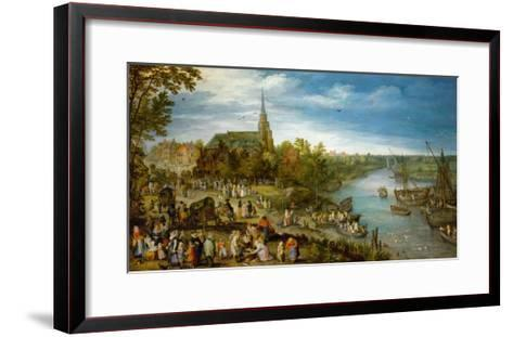Village Fair in Schelle, 1614-Jan Brueghel the Elder-Framed Art Print