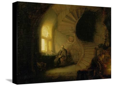 Meditating Philosopher, 1632-Rembrandt van Rijn-Stretched Canvas Print