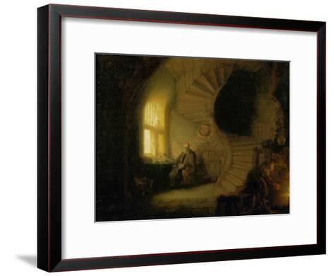 Meditating Philosopher, 1632-Rembrandt van Rijn-Framed Art Print