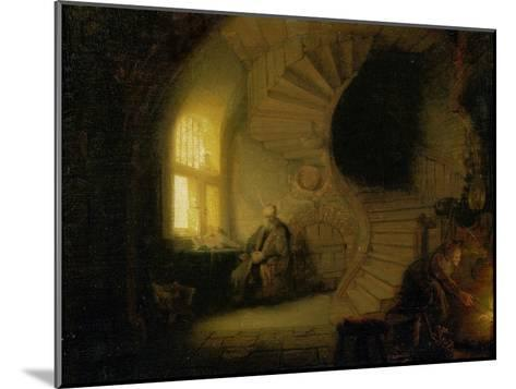 Meditating Philosopher, 1632-Rembrandt van Rijn-Mounted Giclee Print