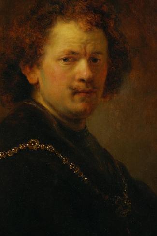 Self-Portrait with Bare Head, 1633-Rembrandt van Rijn-Stretched Canvas Print