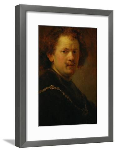 Self-Portrait with Bare Head, 1633-Rembrandt van Rijn-Framed Art Print