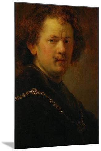 Self-Portrait with Bare Head, 1633-Rembrandt van Rijn-Mounted Giclee Print