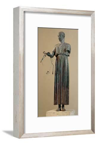 The Charioteer of Delphi, a Votive Offering from Polyzalos-Sotades-Framed Art Print