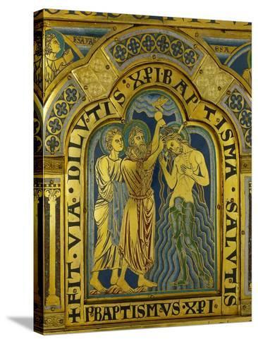 Baptism of Christ, from the Verdun Altarpiece-Nicholas of Verdun-Stretched Canvas Print