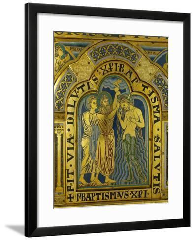 Baptism of Christ, from the Verdun Altarpiece-Nicholas of Verdun-Framed Art Print