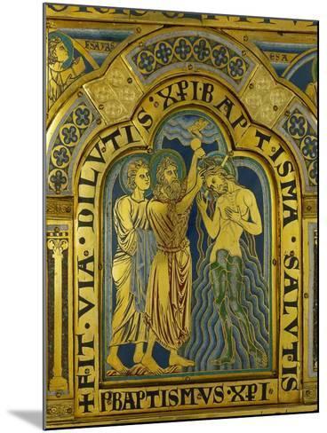 Baptism of Christ, from the Verdun Altarpiece-Nicholas of Verdun-Mounted Giclee Print