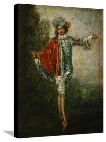 The Indifferent, circa 1717-Jean Antoine Watteau-Stretched Canvas Print