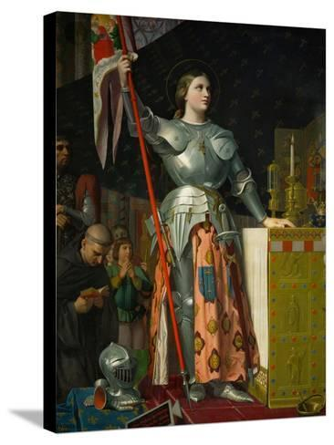 Joan of Arc at the Coronation of King Charles VII at Reims Cathedral, July 1429-Jean-Auguste-Dominique Ingres-Stretched Canvas Print