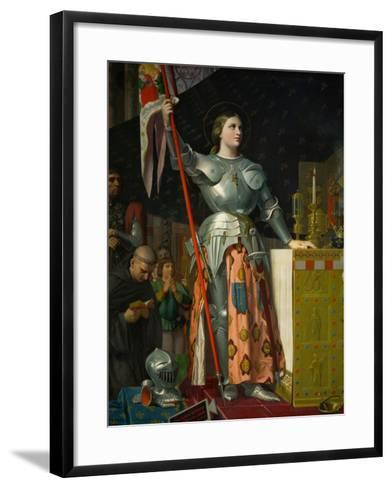 Joan of Arc at the Coronation of King Charles VII at Reims Cathedral, July 1429-Jean-Auguste-Dominique Ingres-Framed Art Print