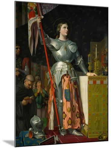 Joan of Arc at the Coronation of King Charles VII at Reims Cathedral, July 1429-Jean-Auguste-Dominique Ingres-Mounted Giclee Print