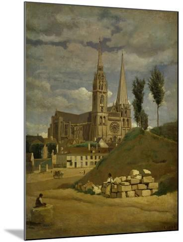 Chartres Cathedral, 1830-Jean-Baptiste-Camille Corot-Mounted Giclee Print