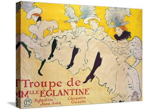 La Troupe De Mlle. Eglantine-Henri de Toulouse-Lautrec-Stretched Canvas Print