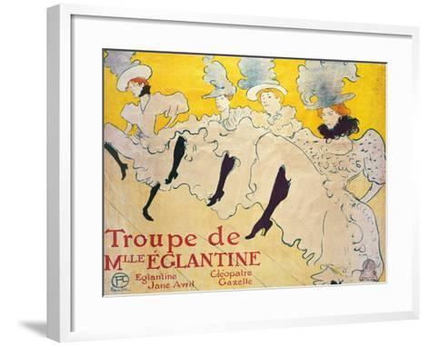 La Troupe De Mlle. Eglantine-Henri de Toulouse-Lautrec-Framed Art Print