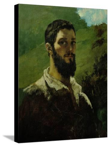 Self-Portrait, 1850-1853-Gustave Courbet-Stretched Canvas Print