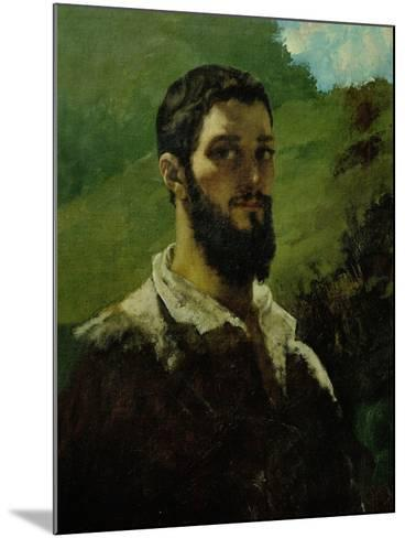 Self-Portrait, 1850-1853-Gustave Courbet-Mounted Giclee Print