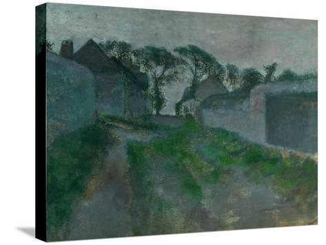 Village Street, Saint Valery-Sur-Somme, 1896-1898-Edgar Degas-Stretched Canvas Print