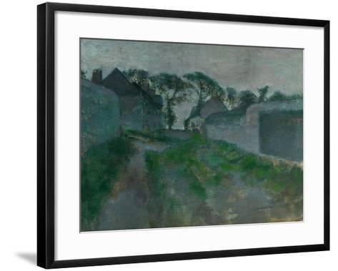 Village Street, Saint Valery-Sur-Somme, 1896-1898-Edgar Degas-Framed Art Print