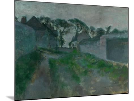 Village Street, Saint Valery-Sur-Somme, 1896-1898-Edgar Degas-Mounted Giclee Print