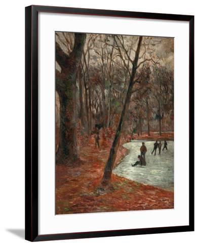 Skaters in the Park in Frederiksberg, 1884-Paul Gauguin-Framed Art Print