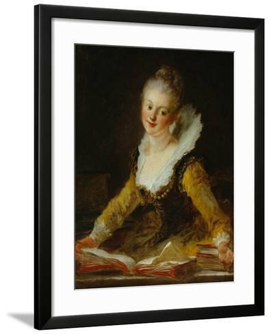 A Study (L'Etude)-Jean-Honor? Fragonard-Framed Art Print