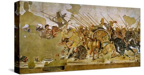 Battle Between Alexander the Great and King Dareios (Battle of Issos)--Stretched Canvas Print