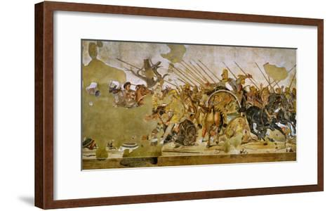 Battle Between Alexander the Great and King Dareios (Battle of Issos)--Framed Art Print