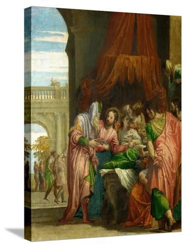 The Resurrection of the Daughter of Jairus-Paolo Veronese-Stretched Canvas Print
