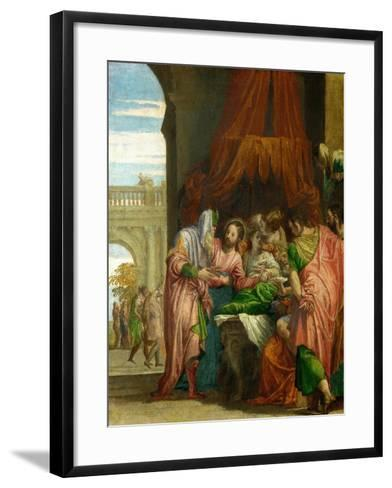 The Resurrection of the Daughter of Jairus-Paolo Veronese-Framed Art Print