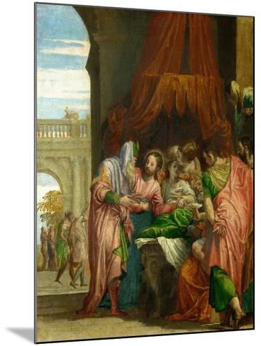 The Resurrection of the Daughter of Jairus-Paolo Veronese-Mounted Giclee Print