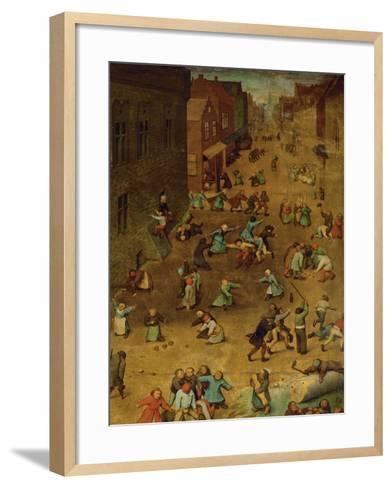Children's Games-Pieter Bruegel the Elder-Framed Art Print