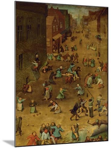 Children's Games-Pieter Bruegel the Elder-Mounted Giclee Print